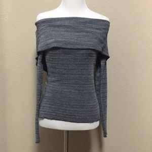 Over the shoulder long sleeve top